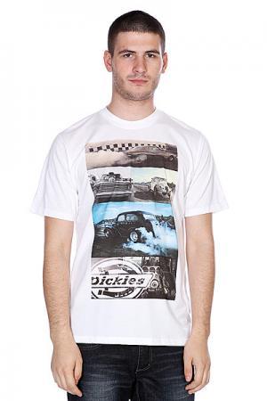 Футболка  Hot Rod Racer Engine White Dickies. Цвет: белый