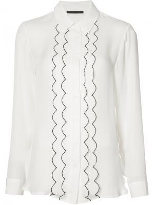 Рубашка с контрастной окантовкой Jenni Kayne. Цвет: белый