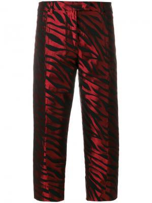 Жаккардовые брюки в полоску Alberto Biani. Цвет: красный