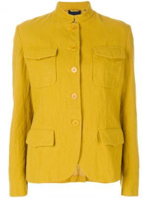 Куртка Americana с воротником-мандарин Aspesi. Цвет: жёлтый и оранжевый