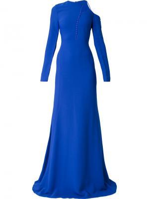 Асимметричное платье с пышной юбкой Antonio Berardi. Цвет: синий