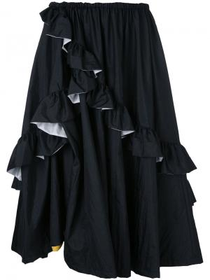 Расклешенная юбка G.V.G.V.. Цвет: чёрный
