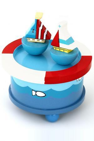 Музыкальная шкатулка Кораблики Mapacha. Цвет: синий