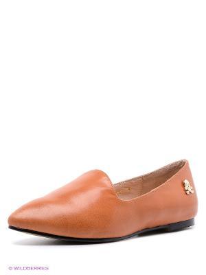 Туфли Strange. Цвет: коричневый