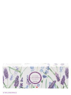 Натуральное мыло Лаванда Iteritalia. Цвет: белый, голубой