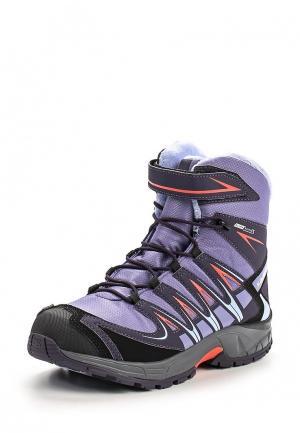 Ботинки Salomon. Цвет: фиолетовый