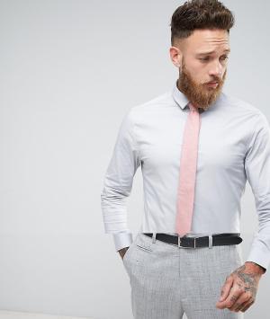 ASOS Зауженная рубашка с фактурным галстуком. Цвет: серый