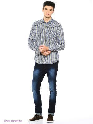 Рубашка Reserved. Цвет: золотистый, синий
