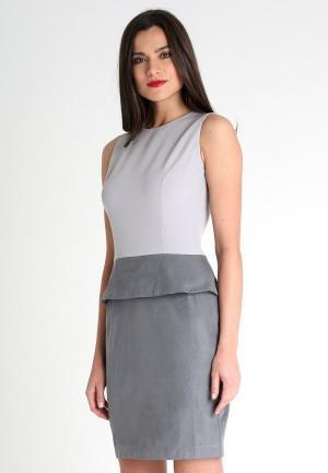 Платье La Vida Rica. Цвет: серый