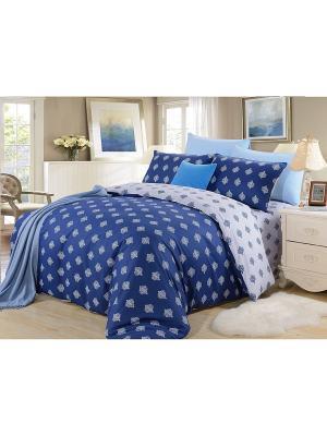 Комплект постельного белья, Севилия, 2-х спальный KAZANOV.A.. Цвет: синий