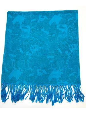 Платок NINA ROSSI. Цвет: голубой