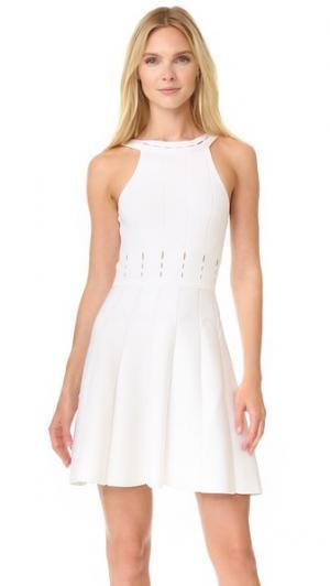 Трикотажное платье Cushnie Et Ochs. Цвет: белый