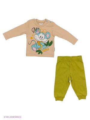 Комплект одежды PEPELINO. Цвет: зеленый, бежевый