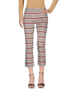 Повседневные брюки SIYU. Цвет: красно-коричневый