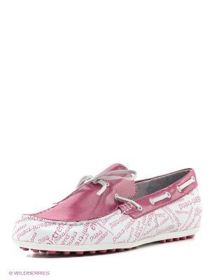 Мокасины ELEGAMI. Цвет: розовый, белый
