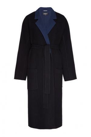 Шерстяное пальто с контрастной изнанкой Rochas. Цвет: multicolor