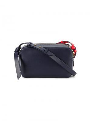 Маленькая сумка через плечо circle Anya Hindmarch. Цвет: синий