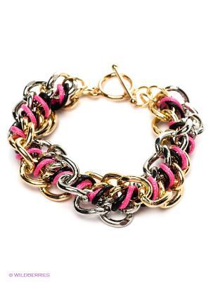 Браслет Funky Fish. Цвет: серебристый, розовый, золотистый, черный