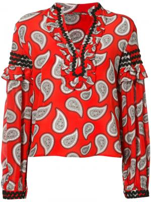 Блузка с длинными рукавами Dodo Bar Or. Цвет: красный