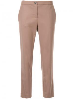 Укороченные брюки Erika Cavallini. Цвет: розовый и фиолетовый