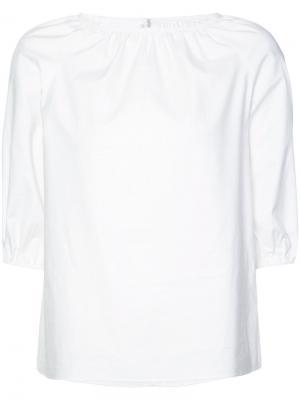 Блузка с присборенной отделкой Co. Цвет: белый