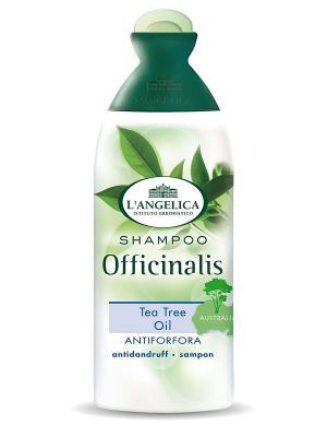 Шампунь ПРОТИВ ПЕРХОТИ  с маслом чайного дерева 250 мл L'Angelica. Цвет: белый