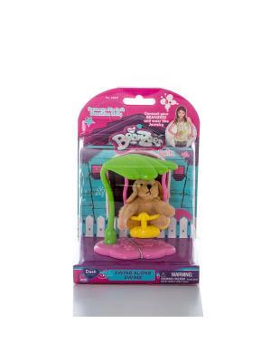 Beanzeez Игровой набор плюшевая  Собачка на качелях. Цвет: розовый