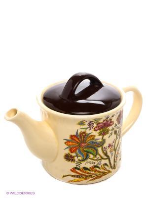 Чайник заварочный, 850 мл LORAINE. Цвет: светло-желтый, коричневый