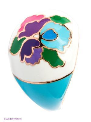 Кольцо SOKOLOV. Цвет: белый, зеленый, голубой, розовый