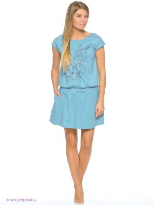 Ночная сорочка PELICAN. Цвет: светло-голубой