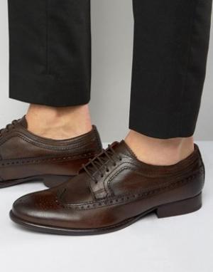 Base London Кожаные оксфордские туфли Bailey. Цвет: коричневый