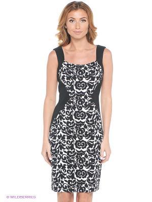 Платье London Times. Цвет: черный, белый