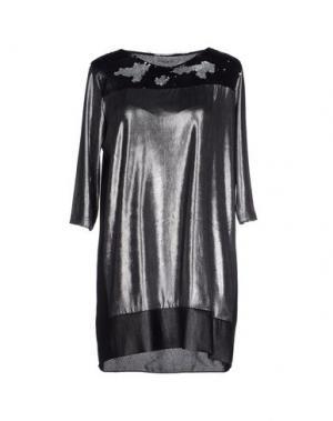 Короткое платье POIS. Цвет: свинцово-серый