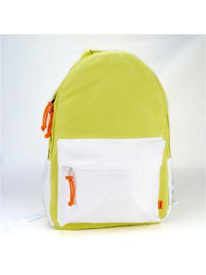 Городской рюкзак TIMBAG. Цвет: салатовый, белый