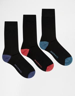 Saville Row 3 пары носков Savile. Цвет: черный