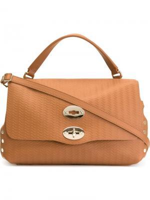 Маленькая сумка-сэтчел Postina Zanellato. Цвет: телесный