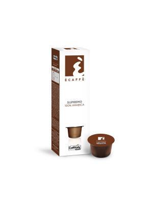 Кофе в капсулах Supremo ECAFFE CAFFITALY. Цвет: коричневый
