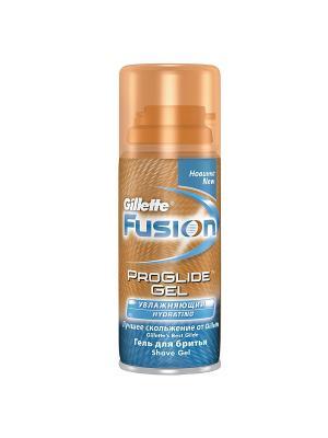 Гель для бритья FUSION ProGlide Увлажняющий, 75мл GILLETTE. Цвет: синий, оранжевый