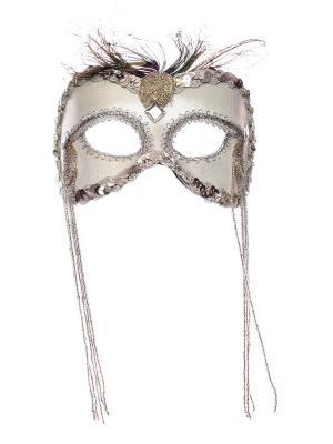 Карнавальная маска Rio. Цвет: серебристый
