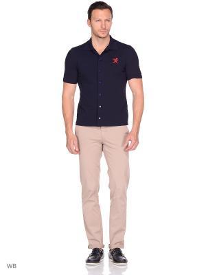 Рубашка трикотажная с коротким рукавом Пряник. Цвет: темно-синий