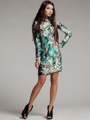 Платье Xarizmas. Цвет: черный, зеленый, бежевый