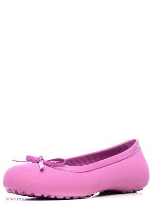 Балетки CROCS. Цвет: розовый