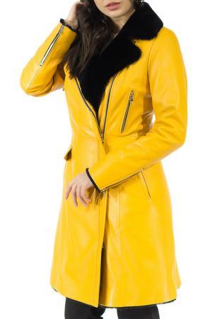 Дубленка ALIANCE FUR. Цвет: желтый