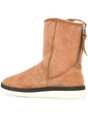 Ботинки из овчины Suicoke. Цвет: коричневый