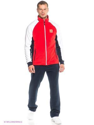 Спортивный костюм ADDIC. Цвет: красный, белый, темно-синий