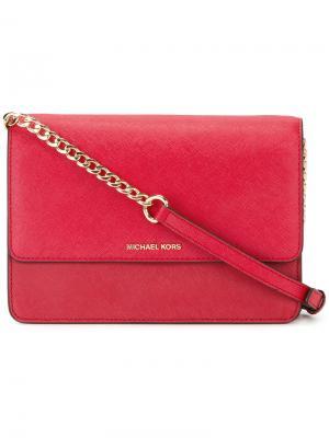 Большая сумка через плечо Daniela Michael Kors. Цвет: красный