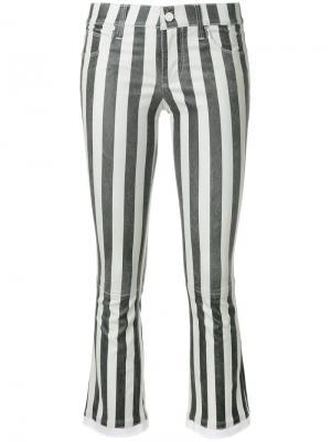 Укороченные брюки в полоску Rta. Цвет: чёрный