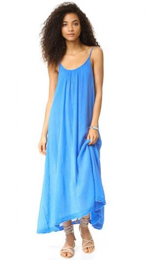 Макси-платье Tulum с необработанными краями 9seed. Цвет: календула