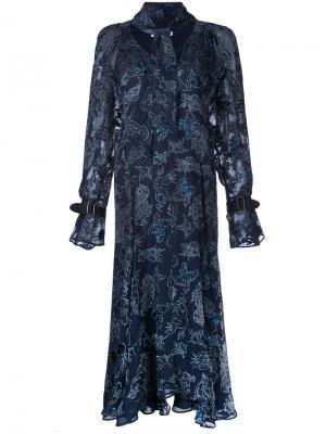 Платье Devore Nightingale Bianca Spender. Цвет: синий