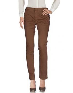 Повседневные брюки ENTRE AMIS. Цвет: хаки